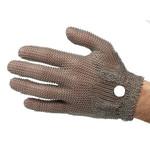 Перчатки кольчужные с метал. ремешком белые WILCOFLEX S