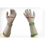 Перчатки кольчужные с полиэстер. ремешком зел. Euroflex Comfort 9590-1-19 — фото 1