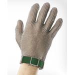 Перчатки кольчужные с полиэстер. ремешком зеленые WILCO XS