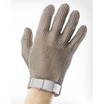 Перчатки кольчужные с полиэстер. ремешком белые WILCO S