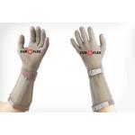 Перчатки кольчужные с полиэстер. ремешком бел. Euroflex Comfort 9590-2-15 — фото 1