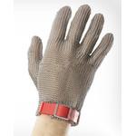 Перчатки кольчужные с полиэстер. ремешком красные WILCO M