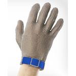 Перчатки кольчужные с полиэстер. ремешком синие WILCO L