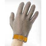 Перчатки кольчужные с полиэстер. ремешком желтые WILCO ХL