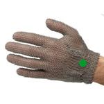 Перчатки кольчужные с метал. ремешком зеленые WILCOFLEX XS — фото 1
