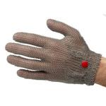 Перчатки кольчужные с метал. ремешком красные WILCOFLEX SM — фото 1