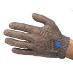 Перчатки кольчужные с метал. ремешком синие WILCOFLEX L — фото 1