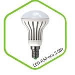 Лампа светодиодная LED-R50-standard 5.0Вт 160-260В Е14 3000К 400Лм ASD — фото 1