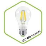 Лампа светодиодная LED-A60-PREMIUM 8Вт 160-260В Е27 3000К 720Лм прозрачная ASD — фото 1