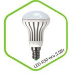 Лампа светодиодная LED-R63-standard 5.0Вт 160-260В Е27 3000К 400Лм ASD — фото 1
