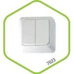 7023-W Выключатель накл 2кл BOLLETO белый ASD (1200) — фото 1