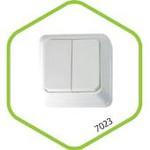 7123-W Выключатель 2кл с подсветкой BOLLETO белый ASD (1201) — фото 1