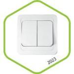 2023-W Выключатель СП 2кл CLASSICO белый ASD (2200) — фото 1