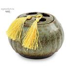 Чайница фарфоровая, цветная глазурь
